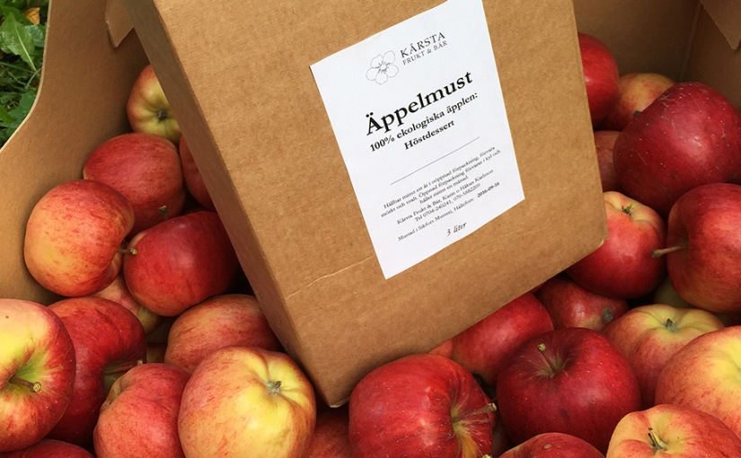 2016: Ekologisk äppelmust!